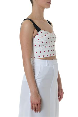 WHITE PODKA DOTS TOP WITH WIDE STRAPS SS 2018  SELF PORTRAIT | 13 | SP1-067PPOLKA DOT CROPIVORY