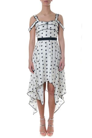 LONG WHITE PRINTED STARS DRESS SS 2018 SELF PORTRAIT | 32 | SP17-104PRINTED STAR HANDKERCHIEFIVORY
