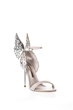 EVANGELINE NUDE SANDALS WITH ANGEL WINGS SS 2018 SOPHIA WEBSTER | 87 | SSR170341NUDE SILVER