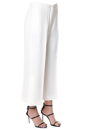 WHITE VISCOSE PANTS WITH WIDE LAGS SS 2018 SPORTMAX | 8 | GIAVAUNI005
