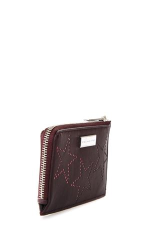 BURGUNDY FAUX LEATHER WALLET WITH STARS SS 2018 STELLA McCARTNEY | 34 | 431018W82106000