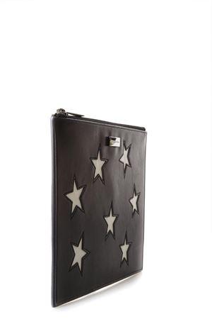 STARS BLACK FAUX LEATHER CLUTCH SS 2018 STELLA McCARTNEY | 34 | 431018W82361000
