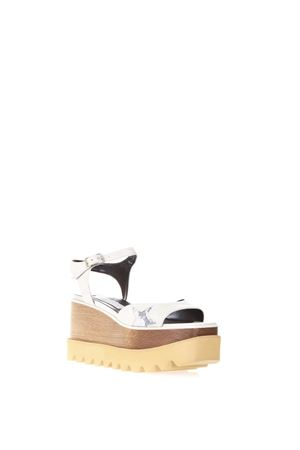 ELYSE WHITE FAUX LEATHER SANDALS SS 2018 STELLA McCARTNEY | 87 | 453590W07819546