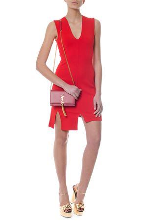RED DRESS WITH ASYMMETRIC EDGE SS 2018 STELLA McCARTNEY | 32 | 494843S18506501