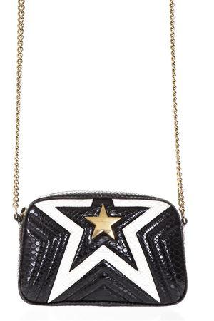 STAR BLACK & WHITE FAUX LEATHER SHOULDER BAG SS 2018 STELLA McCARTNEY | 2 | 500993W82541070