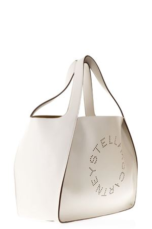 WHITE FAUX LEATHER TOTE BAG WITH LOGO SS 2018 STELLA McCARTNEY | 2 | 502793W99239000