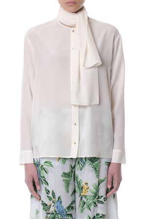 NUDE SILK BLOUSE WITH PUSSY BOW DETAIL SS 2018 STELLA McCARTNEY | 9 | 502931SY2069500