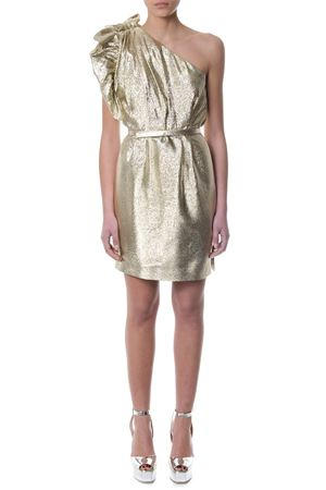 GOLD LUREX ONE SHOULDER DRESS SS 2018 STELLA McCARTNEY | 32 | 503180SKA038001