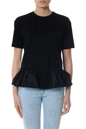 T-SHIRT IN COTONE NERO CON RUCHES PE 2018 STELLA McCARTNEY | 15 | 514135SKW618492