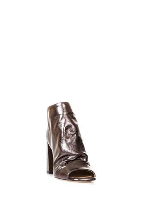 OPEN TOE COPPER LEATHER ANKLE BOOTS SS 2018 STEPHEN GOOD LONDON | 52 | SG4002BAG FASHION BRONZO