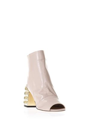 PHARD NAPPA LEATHER ANKLE BOOTS WITH METALLIC HEEL SS 2018 STEPHEN GOOD LONDON | 52 | SG4019NAPPAPHARD