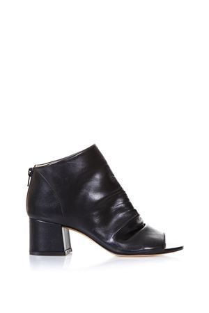 OPEN TOE BLACK NAPPA LEATHER ANKLE BOOTS SS 2018 STEPHEN GOOD LONDON | 52 | SG4027NAPPANERO