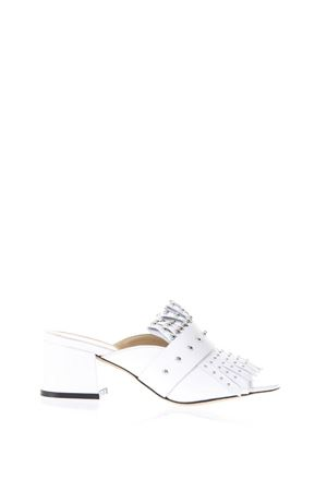 STUDDED WHITE LEATHER SLIPPERS SS 2018 STEPHEN GOOD LONDON | 87 | SG4039NAPPABIANCO
