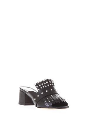 SLIPPERS IN PELLE NERA CON BORCHIE PE 2018 STEPHEN GOOD LONDON | 87 | SG4039NAPPANERO