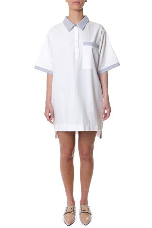 T-SHIRT WHITE COTTON DRESS SS 2018 THOM BROWNE | 32 | FDS773A00572100