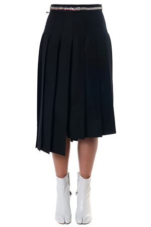 BLACK WOOL TRAPEZE FOLDED SKIRT SS 2018 THOM BROWNE | 26 | FGC400E00626001