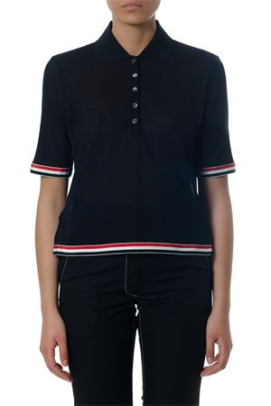 BLUE COTTON POLO SHIRT SS 2018  THOM BROWNE | 11 | FJ016A03447415