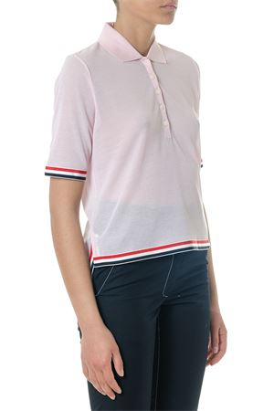 PINK COTTON POLO SHIRT SS 2018  THOM BROWNE | 11 | FJ016A03447680