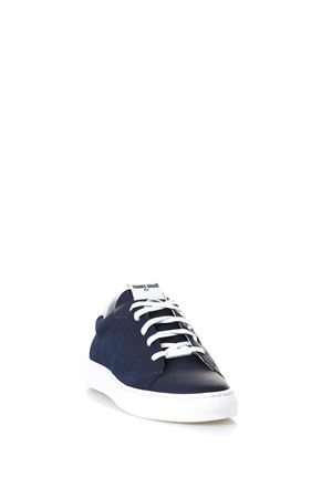 NAVY LACED RUBBER SNEAKERS IN LEATHER SS 2018  THoMS NICOLL | 55 | 338GOMMATO/GRAFFIATOBLU/BIANCO