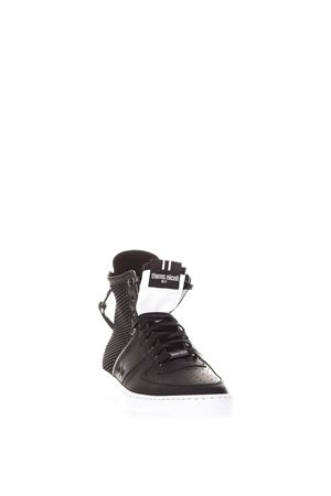 BLACK RUBBER LEATHER AND NET SNEAKERS SS 2018 THoMS NICOLL | 55 | 450UGOMMATO/RETENERO/BIANCO