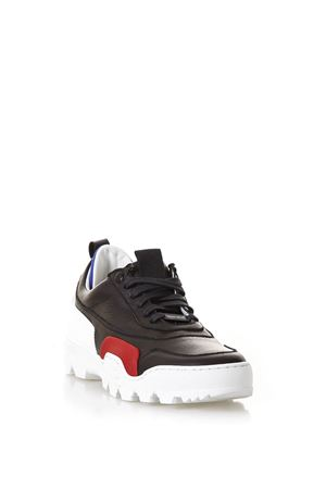 BLACK LEATHER SNEAKERS WITH RUBBER DETAILS SS18 THoMS NICOLL | 55 | 454VARIANTENERO