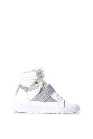 VARIANTE A WHITE GLITTER LEATHER SNEAKERS SS 2018 THoMS NICOLL | 55 | 455VARIANTEA