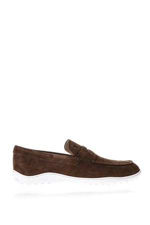 BROWN SUEDE LOAFERS IN SUEDE SS 2018 TOD