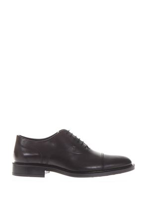 BLACK CLASSIC LACED UP SHOES IN LEATHER SS 2018 TOD