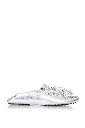 SILVER PADS FRINGES LOAFERS IN LEATHER SS 2018 TOD