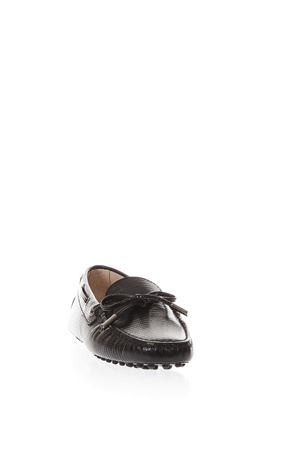 BLACK LEATHER GOMMINO LOAFERS SS18 TOD