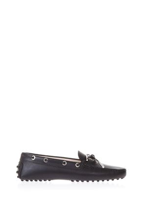 BLACK LEATHER GOMMINO LOAFERS SS 2018 TOD