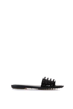 bc218d24eaf9 BLACK RUBBER STUDS SLIPPER IN LEATHER SS 2018 TOD ...