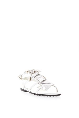 MULTI STRAP WHITE LEATHER SANDALS SS 2018 TOD