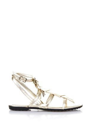 MULTI STRAP GOLD LEATHER SANDALS SS 2018 TOD