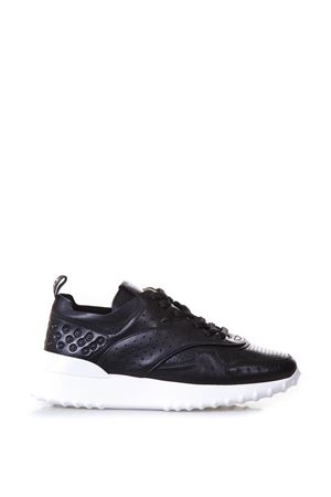 BLACK WOMAN PERFORATED SNEAKERS IN LEATHER SS 2018 TOD