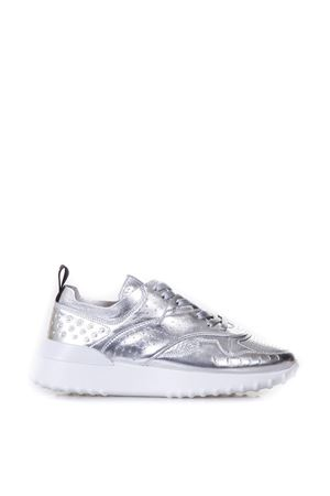SILVER PIERCED SNEAKERS IN LEATHER SS 2018 TOD