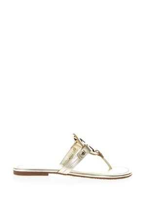 MILLER PLATINUM METALLIC LEATHER SANDALS SS 2018 TORY BURCH | 87 | 36540MILLER723