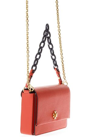 RED KIRA DOUBLE STRAP SHOULDER BAG IN LEATHER SS 2018 TORY BURCH | 2 | 45155KIRA SHOULDER 614