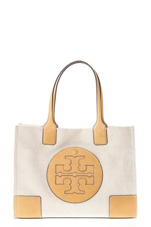 BORSA ELLA IN CANVAS E PELLE COLOR NATURALE PE 2018 TORY BURCH | 2 | 45208ELLA CANVAS MINI TOTE285