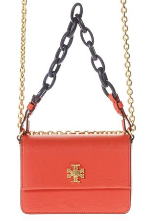 RED KIRA DOUBLE STRAP SHOULDER BAG IN LEATHER SS 2018 TORY BURCH | 2 | 45307KIRA MINI BAG614