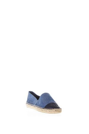 ESPADRILLAS BLU IN DENIM PE 2018 TORY BURCH | 144 | 46767COLOR BLOCK FLAT ESPADRILLE435