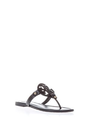 MILLER BLACK LEATHER FLIP-FLOP SANDALS SS 2018 TORY BURCH | 87 | 50008694MILLER001