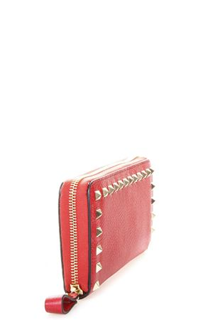 ROCKSTUD RED LEATHER WALLET SS 2018 VALENTINO GARAVANI | 34 | PW0P0645VSH0RO