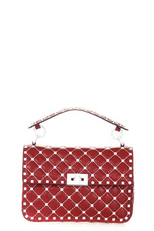 ROCKSTUD SPIKE CHAIN RED LEATHER BAG SS 2018 VALENTINO GARAVANI | 2 | PW2B0122RVH0RO