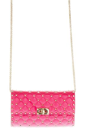 ROCKSTUD SPIKE PINK LEATHER SHOULDER BAG SS 2018 VALENTINO GARAVANI | 2 | PW2B0137NAP0HO