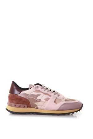 ROCKRUNNER PINK SUEDE & CANVAS SNEAKERS SS 2018 VALENTINO GARAVANI | 55 | PW2S0291TCC56B