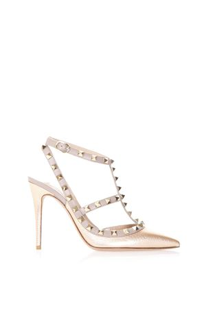 COPPER ROCKSTUD LEATHER PUMPS SS 2018 VALENTINO GARAVANI | 68 | PW2S0393VIW0LM