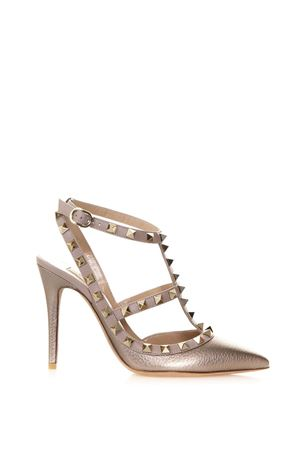 BRONZE ROCKSTUD LEATHER PUMPS SS 2018 VALENTINO GARAVANI | 68 | PW2S0393VIWS54
