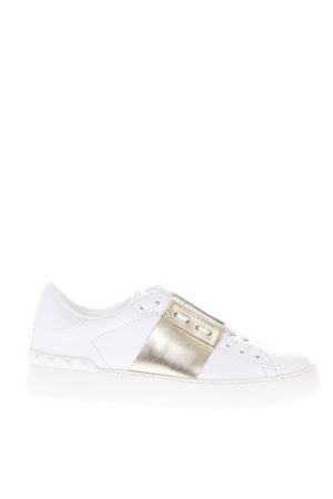 OPEN WHITE & PLATINUM LEATHER SNEAKERS SS 2018 VALENTINO GARAVANI | 55 | PW2S0781FLRL71