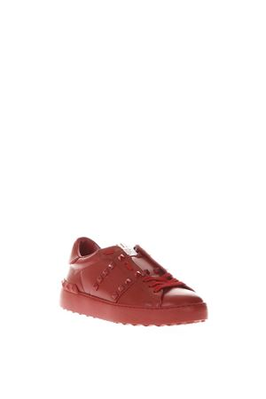 ROCKSTUD UNTITLED RED LEATHER SNEAKERS SS 2018 VALENTINO GARAVANI | 55 | PW2S0A01MZD0RO